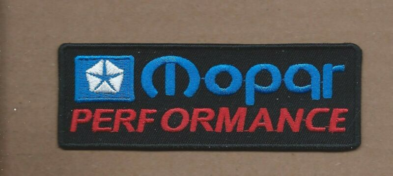 """NEW 1 1/2 X 4 1/4"""" MOPAR PERFORMANCE DODGE IRON ON PATCH FREE SHIPPING P1"""