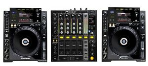 Pioneer CDJ 900 + DJM 700 professional DJ System + Flight Cases