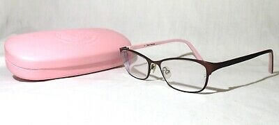 Juicy Couture JU109 eyeglasses Italy 51-16-130, Brown metal front plastic arms Juicy Couture Brown Eyeglasses