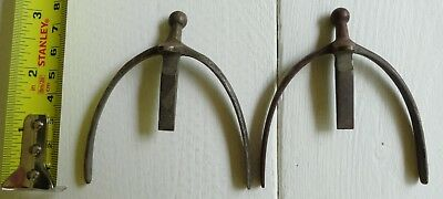 Spurs For Boots (Antique brass Spurs, military spurs for ankle boots. Republican Guard of)