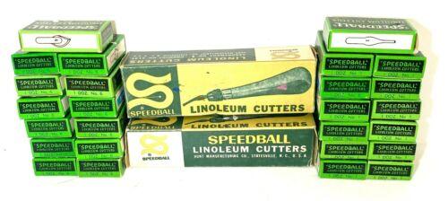 Vintage Speedball Linoleum Cutter - 156 Blades Cutters in Original Boxes! #1 #6