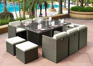 ifurniture Warehouse Sale --PETERSFIELD 11 PC Outdoor  Cube Dining Set--Free Delivery in Edmonton