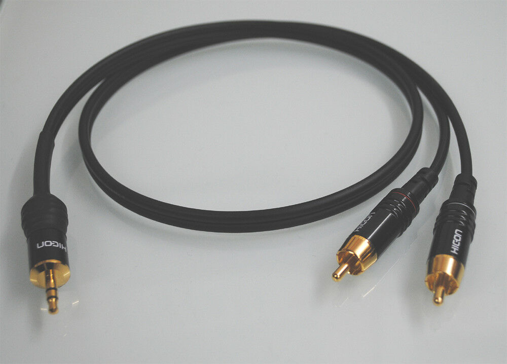 Sommercable ONYX schwarz / Adapterkabel 2x Cinch auf 1x Klinke 3,5 mm