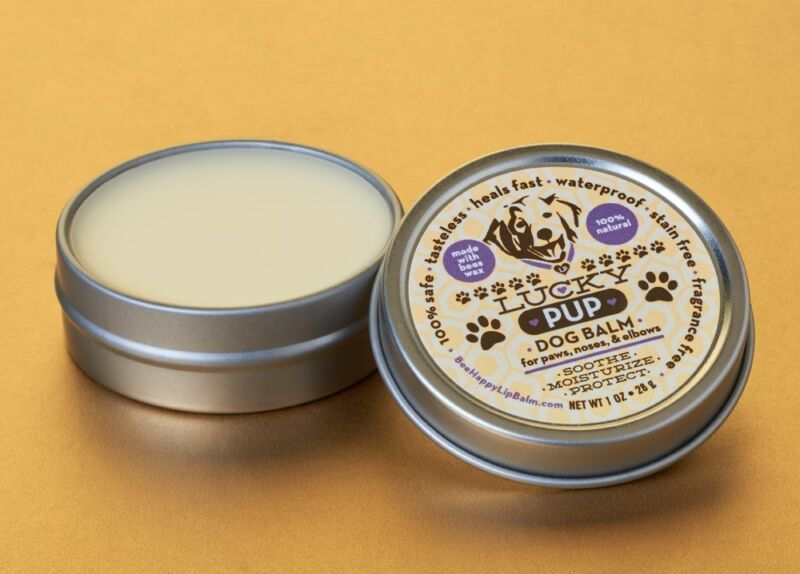 Lucky Pup Dog Healing Balm Wax for Paws, Noses and Elbows slim tin- All Natural