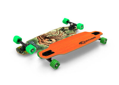 Fathom Shark Wheel Kraken Mini Drop Starter Longboard Skateboard Complete Orange