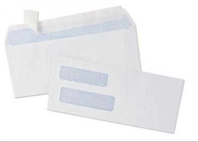 100 Self Seal Double Window Security Tinted Envelopes - for Quickbooks Checks (3 100 Double Window Envelopes