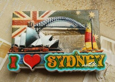 I Love Sydney  Australia Tourist Travel Souvenir Resin Fridge Magnet Craft