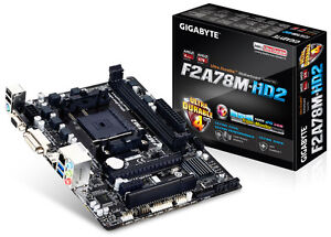 Gigabyte GA-F2A78M-HD2 AMD FM2 + mATX Motherboard SATA 3, HDMI, DVI and VGA -NEW