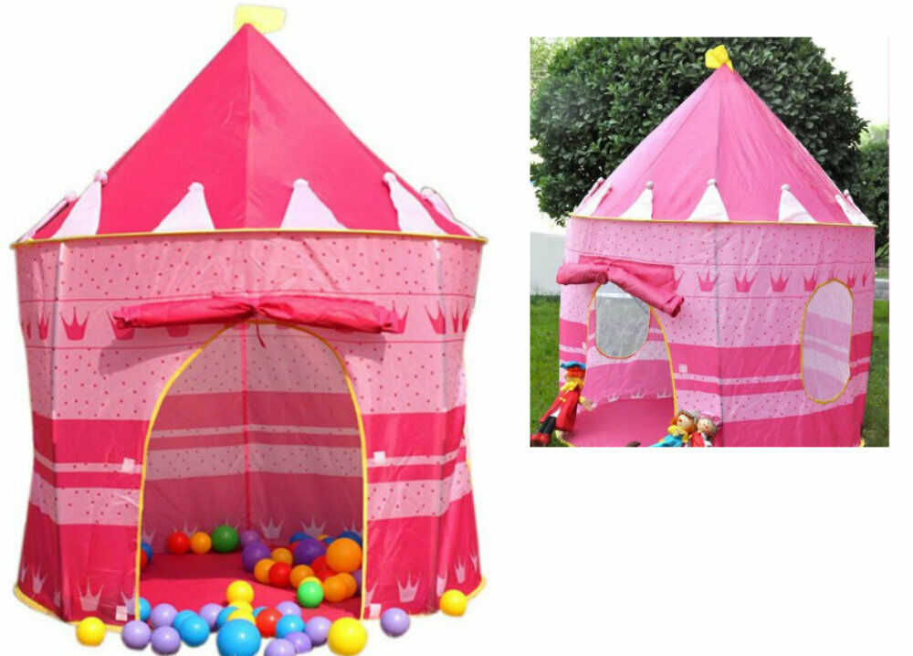 large girls pink pop up play tent princess castle kids. Black Bedroom Furniture Sets. Home Design Ideas