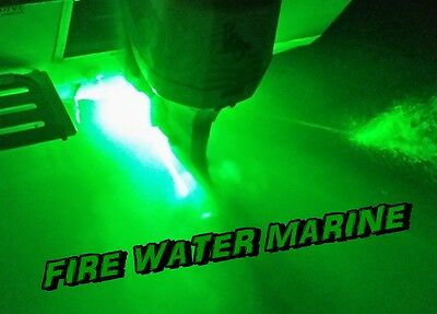 "SUPER GREEN GARBOARD LED BOAT DRAIN PLUG LIGHT 1000 LUMENS 1/2"" NPT UNDERWATER"