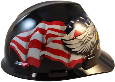 Msa V Gard Cap Style American Pride Safety Hard Hat One Touch Susp  Made In Usa