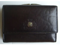 Brown Wittchen Leather Wallet Purse for Men with 3 pockets for cards