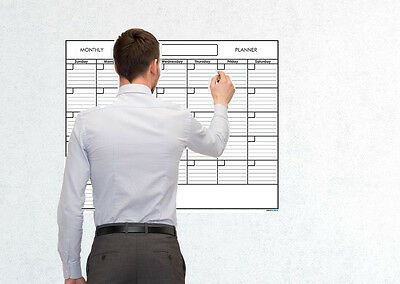 (24x30 Monthly Erasable Blank Reusable Undated 1 Month Wall Calendar Planner)