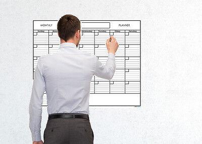 24x30 Monthly Erasable Blank Reusable Undated Wall Calendar Homeschool Planner