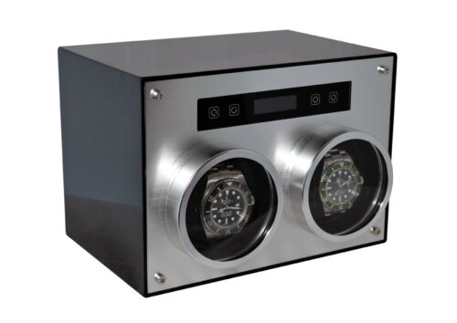 D700 Double Metal Carbon Fiber Automatic Watch Winder Japanese Motors By Pangaea