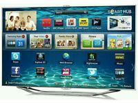 "Samsung 55"" Smart 3D wifi built in Camera tv HD full HD 1080p HD freeview and freesat UE55ES7000."
