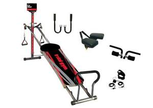 Total Gym Titanium with 4 Dvds and Exercise Flip Chart- FOR PICK UP ONLY!!
