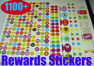 1100-Children-REWARDS-STICKERS-for-parents-teacher-school-CRAFT-CHART-Well-done