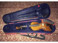 1/2 Stentor Student II violin with KUN chin rest