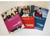 VOGUE FASHION BOOKS X 3, BEAUTIFUL CONDITION, FABULOUS GIFT