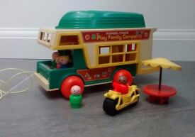 Vintage Fisher Price Camper Van. Good condition, from a smoke free and pet free home.