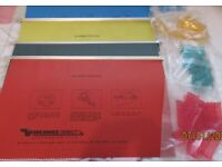 1 x box assorted colour suspension files - foolscap with tab holders