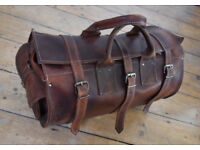 Travel Leather Bag, brown, as new (never used) , £30