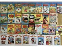 Vintage large collection of Beano and Dandy annuals.
