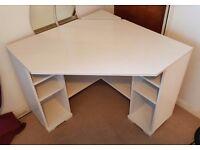 Ikea White Corner Gaming / Office Desk