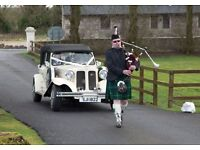 Piper / Bagpiper for Hire - Full Time - Weddings, Parties, Funerals, Corporate & Charity events etc