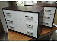 Pair of 3 drawer chest of drawers