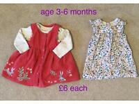 Baby girls dresses £6 each