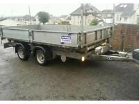 Ifor williams 12 x 6 tt126 tipping trailer electric and manual tipper