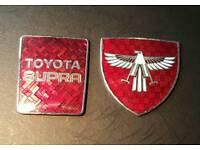 Original Toyota Supra badges 1990