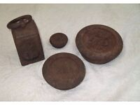Vintage Cast Iron 1960's Grocery Scale Weights - £7.00