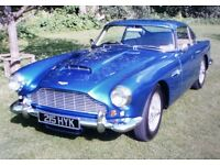 Aston martin DB4 for wedding or prom hire