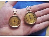 9ct & 14ct Gold Ladies Pocket watches or Fob Watches - Antique and rare / late 19th century