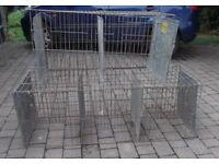 Poultry show cages for pen training or quarantine use