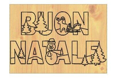 Fuoriporta natalizio casa Quadretto decorativo in legno Albero di Natale Pupazzo