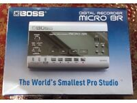 BOSS MICRO BR DIGITAL 4 TRACK (32 VIRTUAL TRACK) RECORDER. GREAT CONDITION