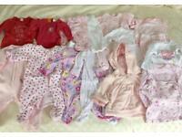 Girls 0-3 month clothes bundle