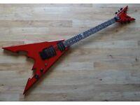 Dean CBV Corey Beaulieu Signature Trivium Flying V electric guitar w. flight case