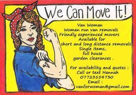 Van Woman - Removals
