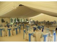 Chair hire, marquees, tables, dance floors, wedding backdrops