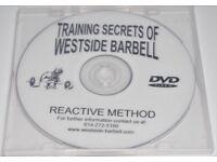 Westside Barbell Training Secrets DVD - Reactive Method - Brand new - RARE