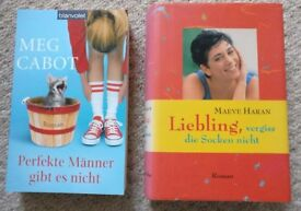 Chicklit in German, 2 books, good condition, Meg Cabot, Marvel Haran