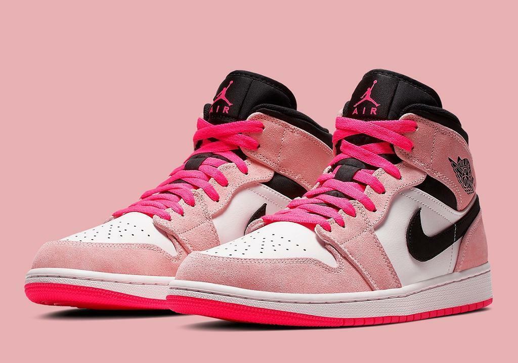 d4cd5da9c1b0ae Nike Air Jordan 1 Mid SE Crimson Tint Hyper Pink UK11 US12 852542 801 (1)