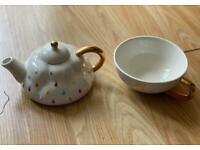 2PC Unicorn Teapot and Mug Set