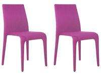 EX DISPLAY Hygena Otto 4 Chairs - Pink