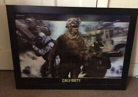 3D Call of Duty Picture in a Black Frame